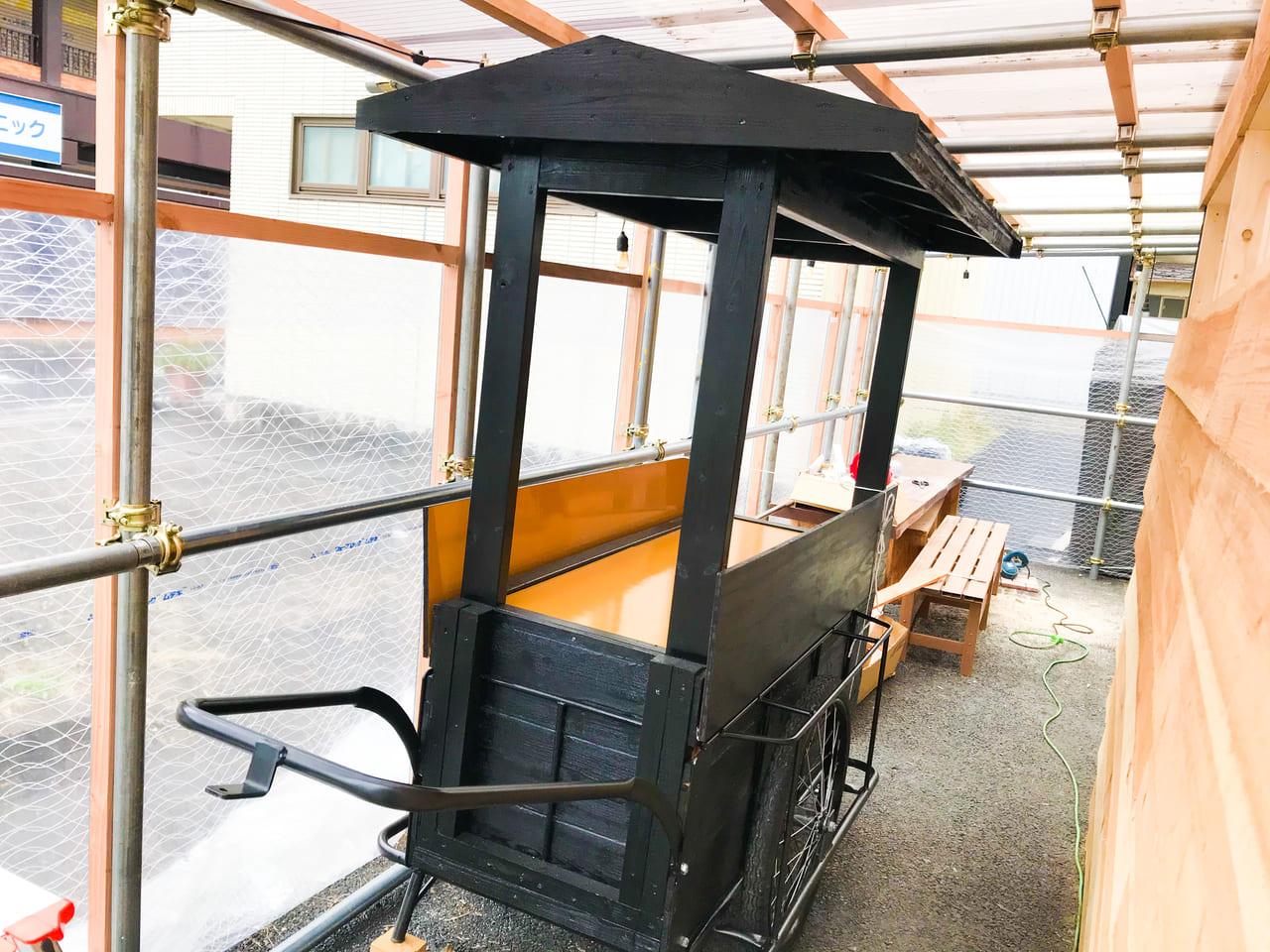 犬山駅にある、おにぎりくん釜匠チャンネルの屋台