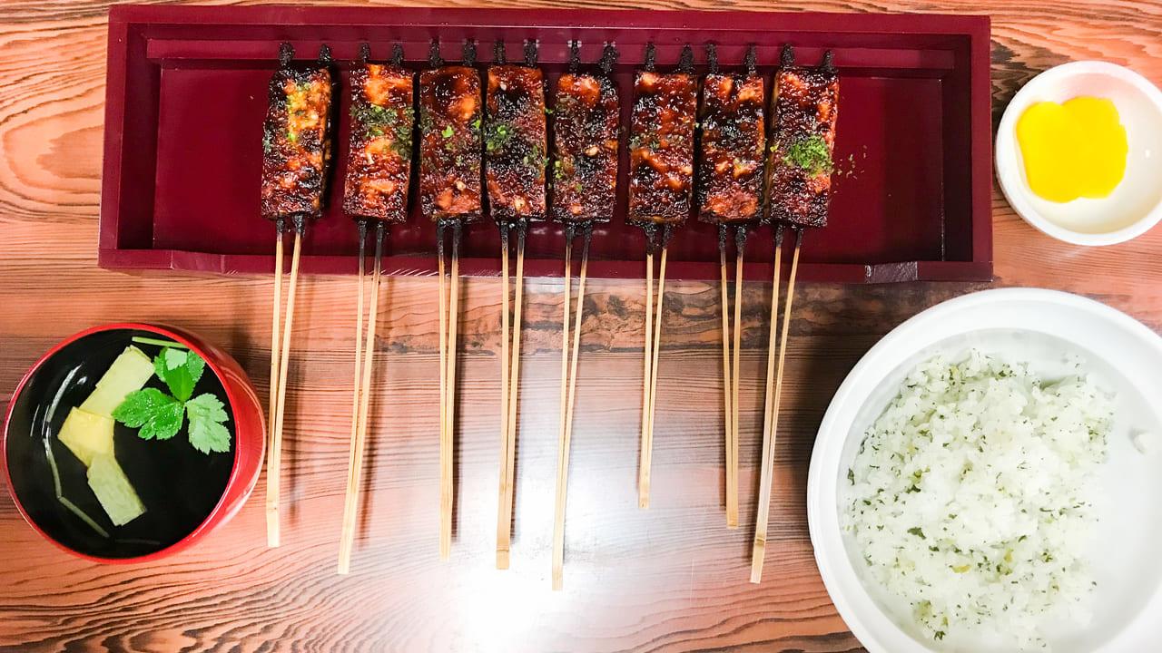 松野屋の菜めしでんがく「でんがく定食」